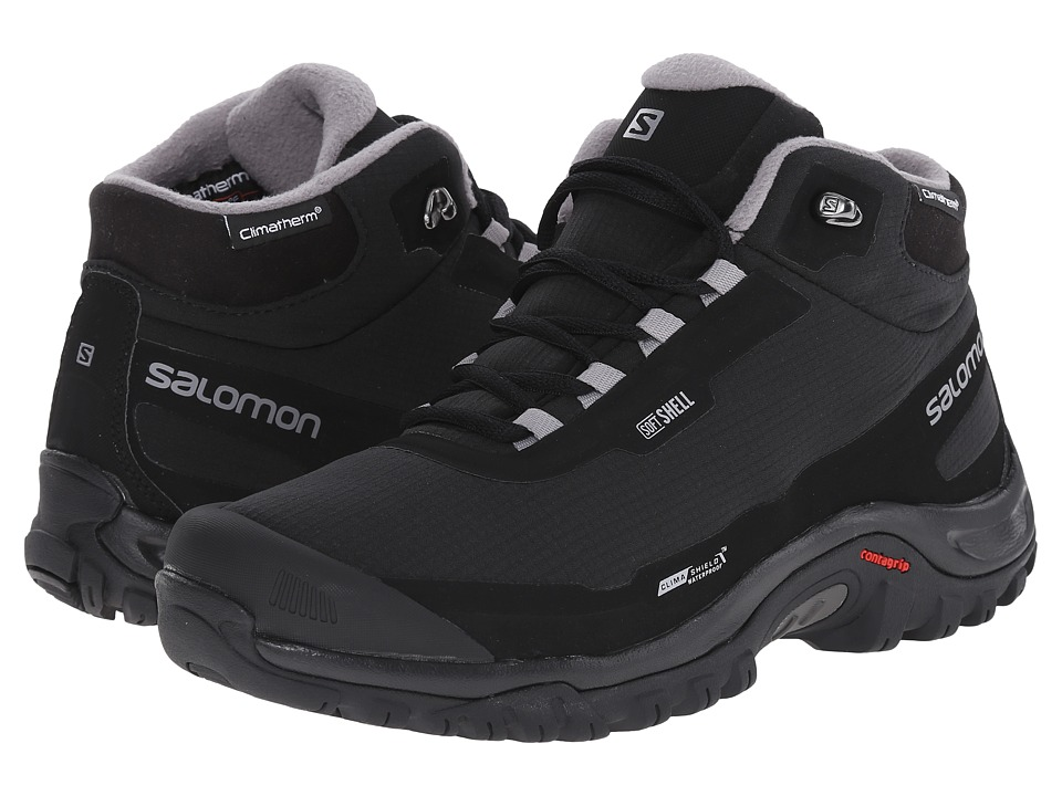 Salomon - Shelter CS WP (Black/Black/Pewter) Mens Shoes
