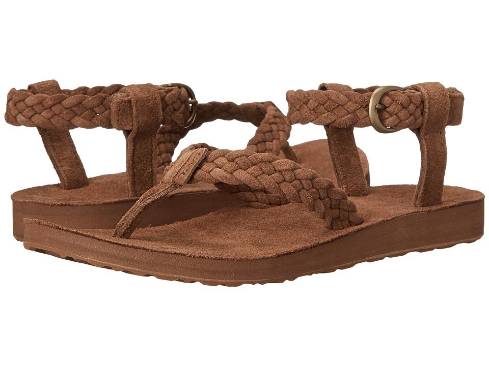 Teva Original Sandal Suede Braid Bison Womens Sandals