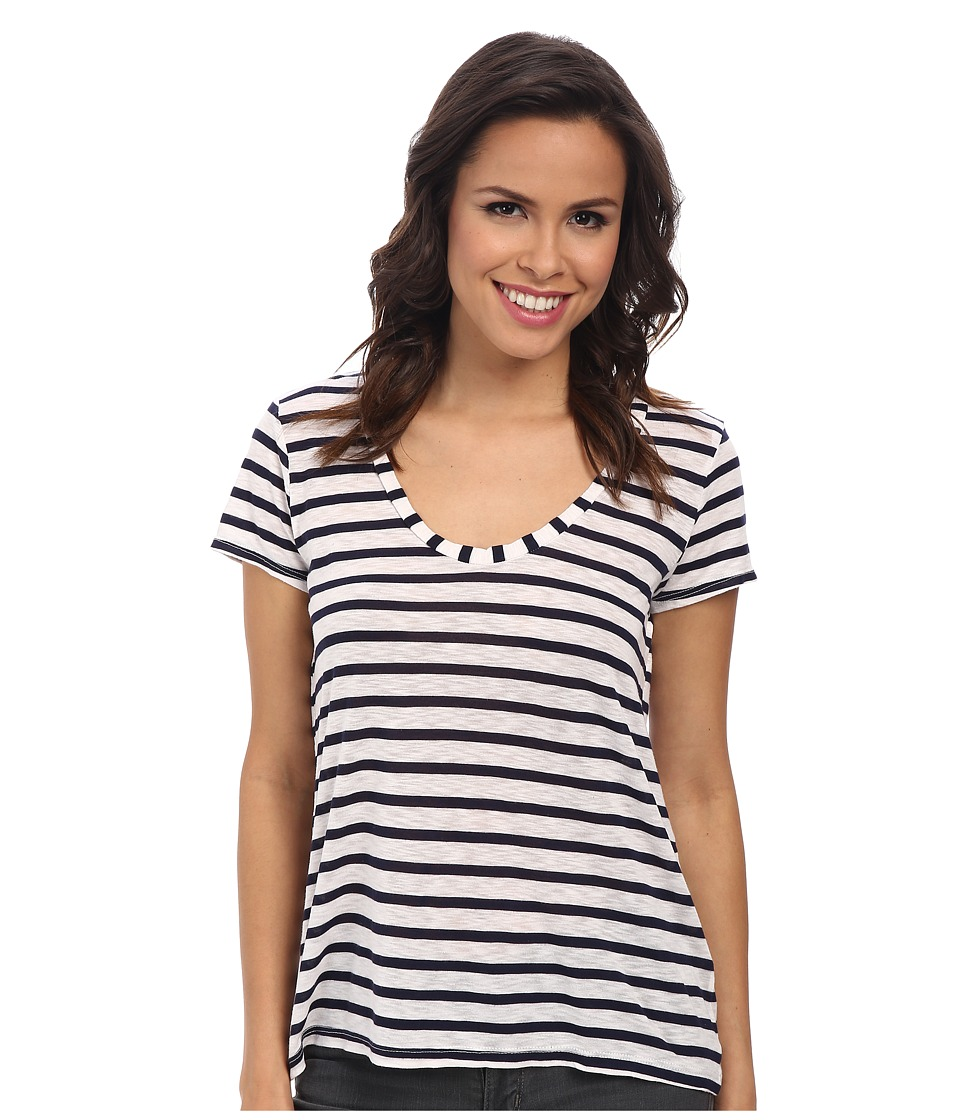 Splendid Navy Venice Stripe Tee (White) Women