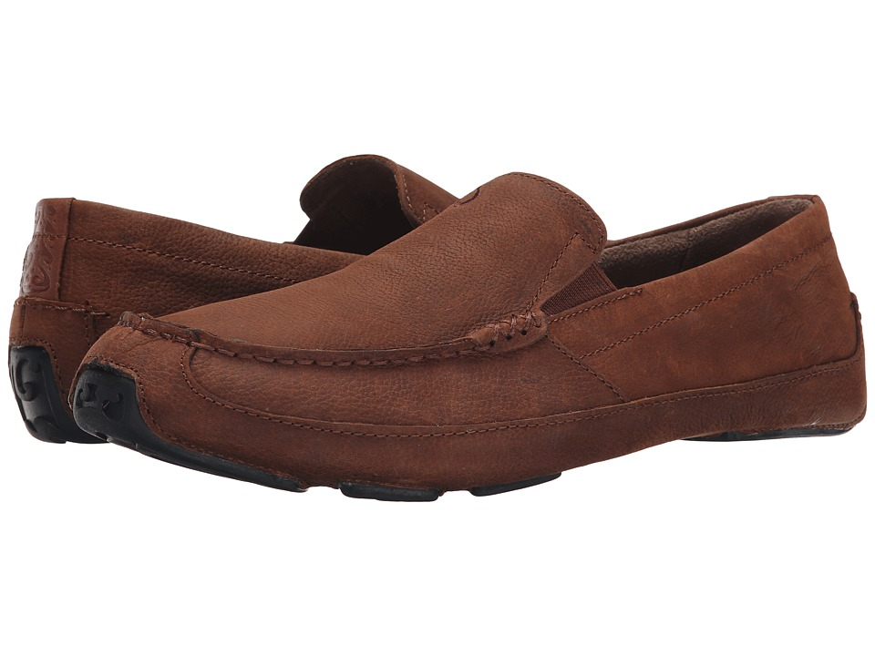 OluKai - Akepa Moc (Rum/Rum) Mens  Shoes