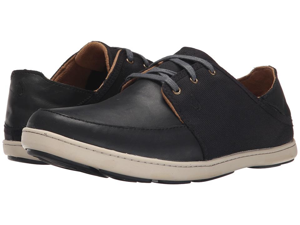 OluKai - Nohea Lace Leather (Black/Black) Men