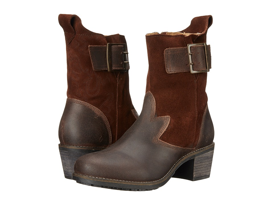 OluKai Kaiulani Kona Coffee/Kona Coffee Womens Pull on Boots