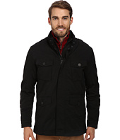 Cole Haan - 2-in-1 Convertible Utility Rain Jacket w/ Hidden Hood