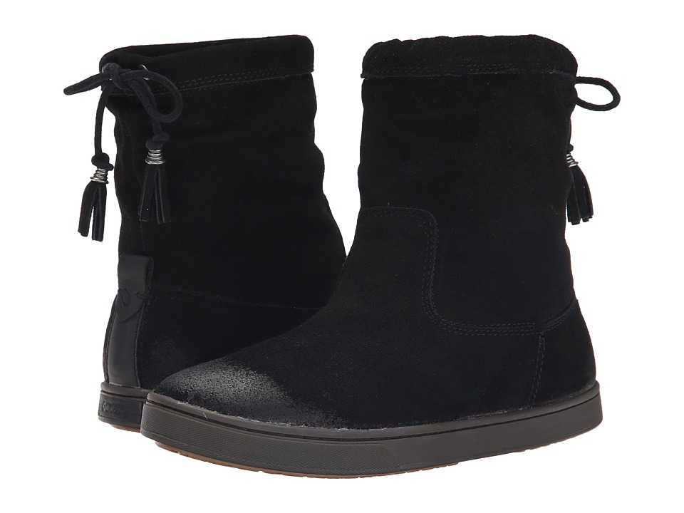 OluKai Kapa Moe Black/Black Womens Pull on Boots