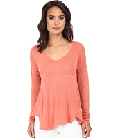 Velvet by Graham & Spencer - Syla Long Sleeve Linen Top
