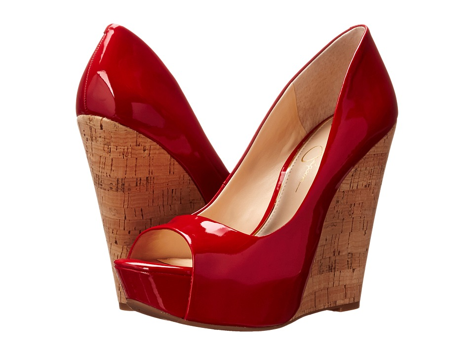 Jessica Simpson - Bethani (Red Muse Patent/Cork) Women's Wedge Shoes