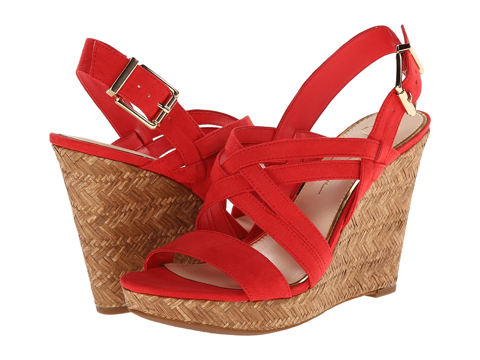 Jessica Simpson Julita (Solar Coral Elko Nubuck) Women's Wedge Shoes