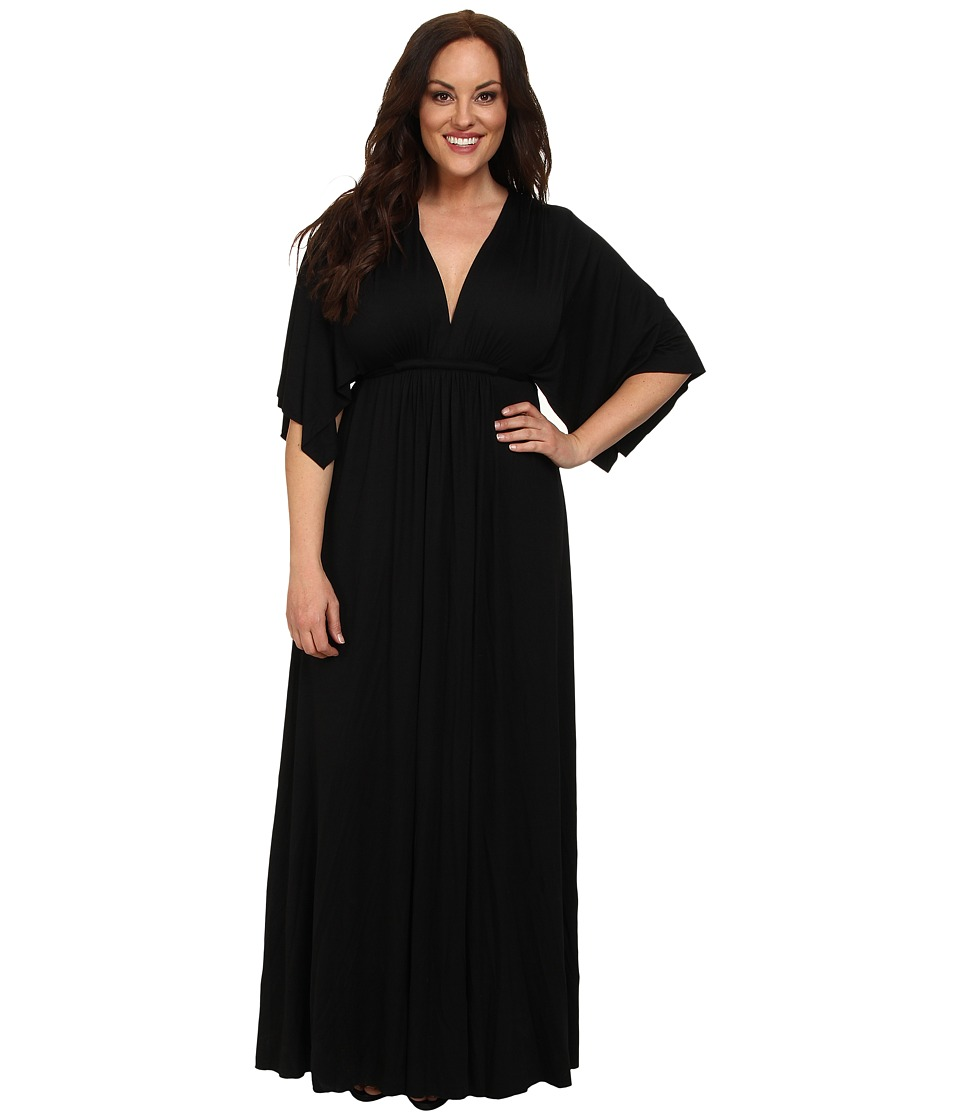 Rachel Pally - Plus Size Long Caftan White Label (Black) Womens Dress