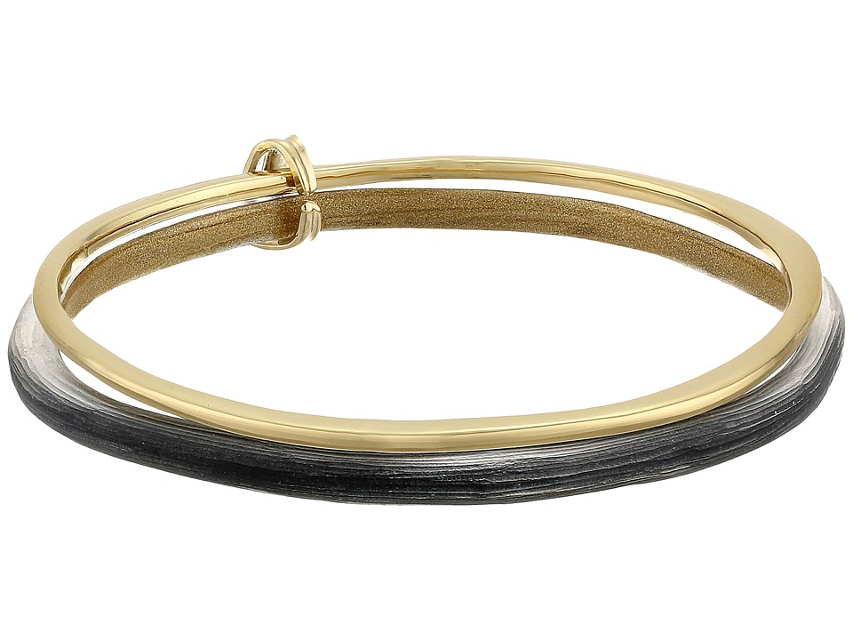 Alexis Bittar Liquid Metal Paired Bangle Bracelet Black Bracelet