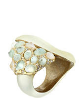 Alexis Bittar - Green Amethyst MOP Crystal Encrusted Cocktail Ring