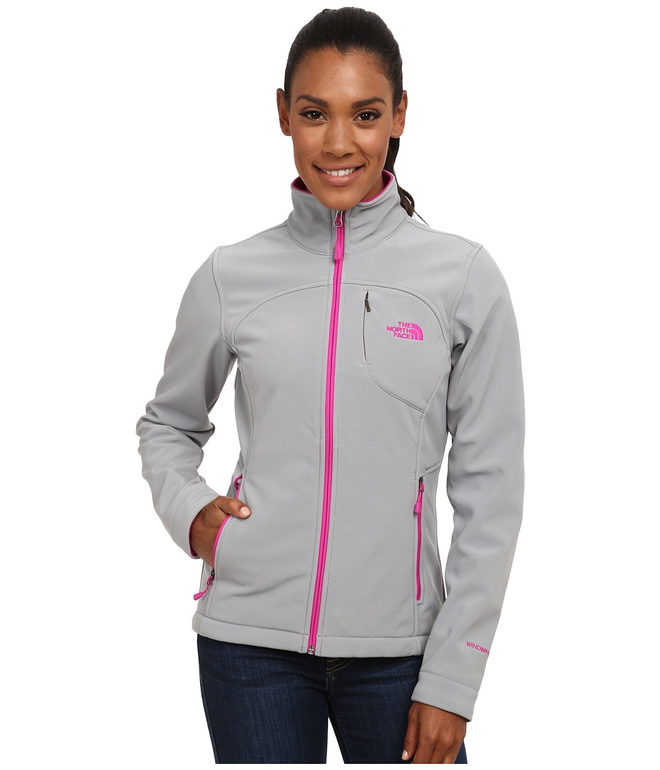 The North Face Apex Bionic Jacket (Mid Grey/Luminous Pink (Prior Season)) Women