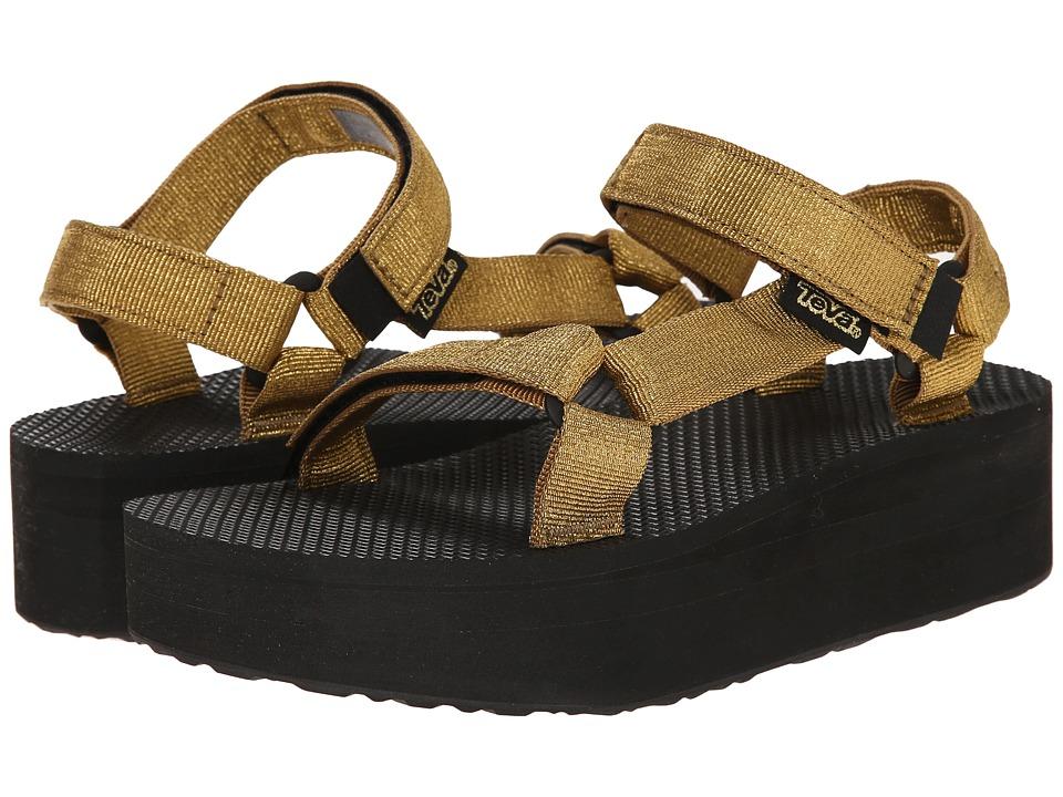 Teva Flatform Universal Gold Womens Sandals