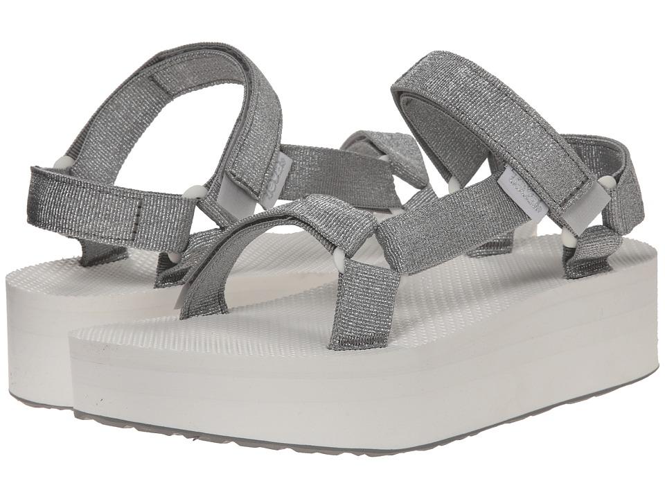Teva Flatform Universal Silver Womens Sandals