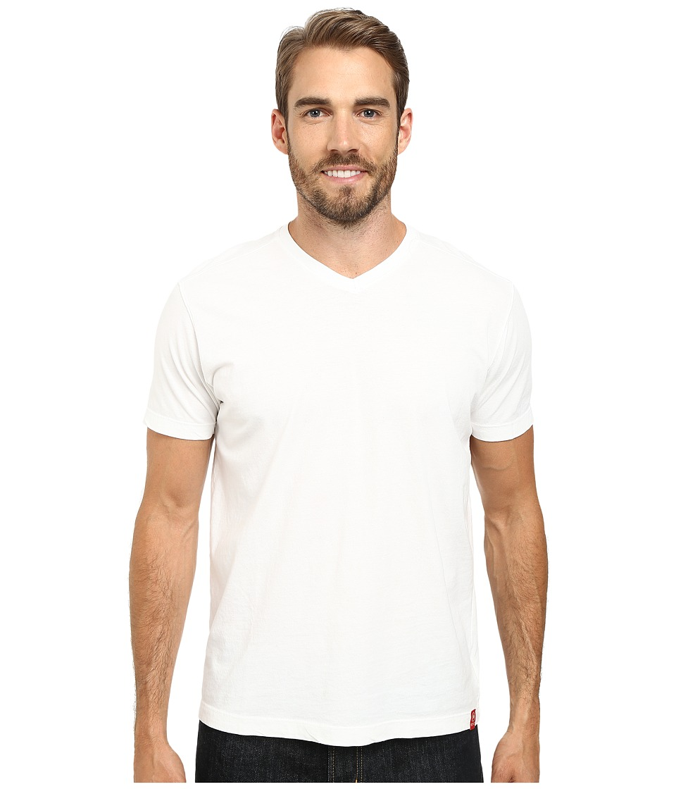 Agave Denim Agave Hi V Supima Tee White Mens T Shirt