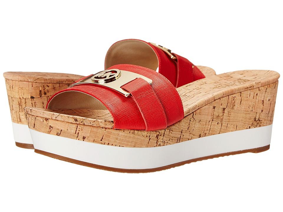 MICHAEL Michael Kors - Warren Platform (Mandarin Saffiano/Cork) Women's Sandals