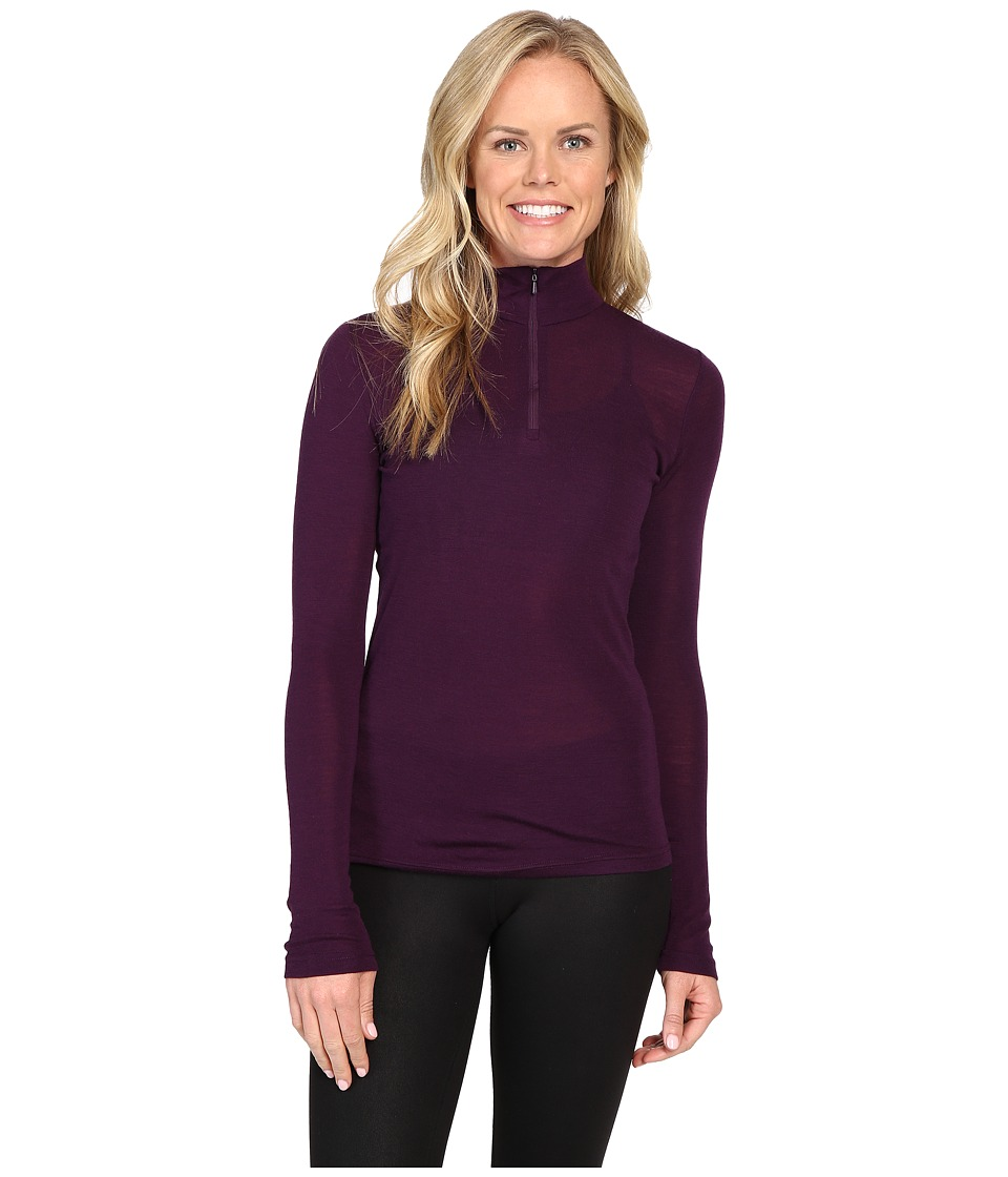 Icebreaker Everyday Long Sleeve Zip (Vino) Women