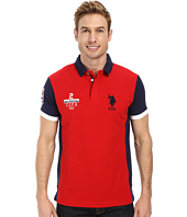 U.S. POLO ASSN. - Color Block Slim Fit Pique Polo