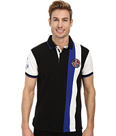 U.S. POLO ASSN. - Vertical Stripes Color Block Pique Polo
