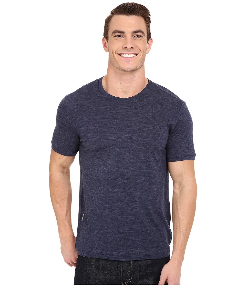 Icebreaker Tech Lite Short Sleeve (Fathom Heather/Fathom Heather) Men