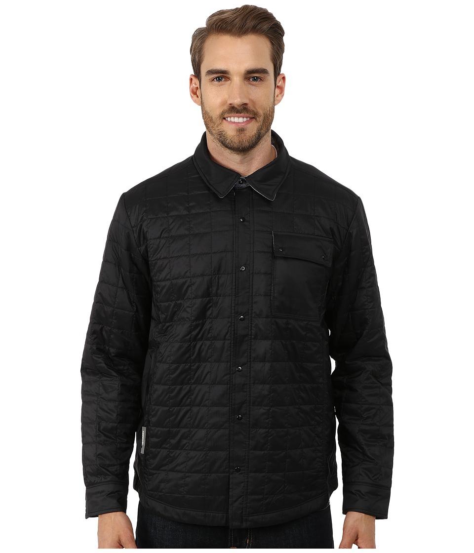Icebreaker Helix Long Sleeve Shirt Black/Admiral/Aquamarine Mens Clothing