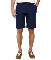 U.S. POLO ASSN. - Belted Flat Front Striped Shorts