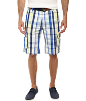 U.S. POLO ASSN. - Slim Plaid Cargo Shorts with Belt