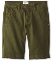 Hudson Kids - Raw Edge Shorts in Leaf (Big Kids)