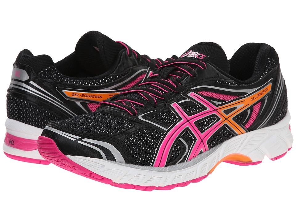 ASICS - Gel-Equation 8 (Black/Hot Pink/Orange) Womens Running Shoes