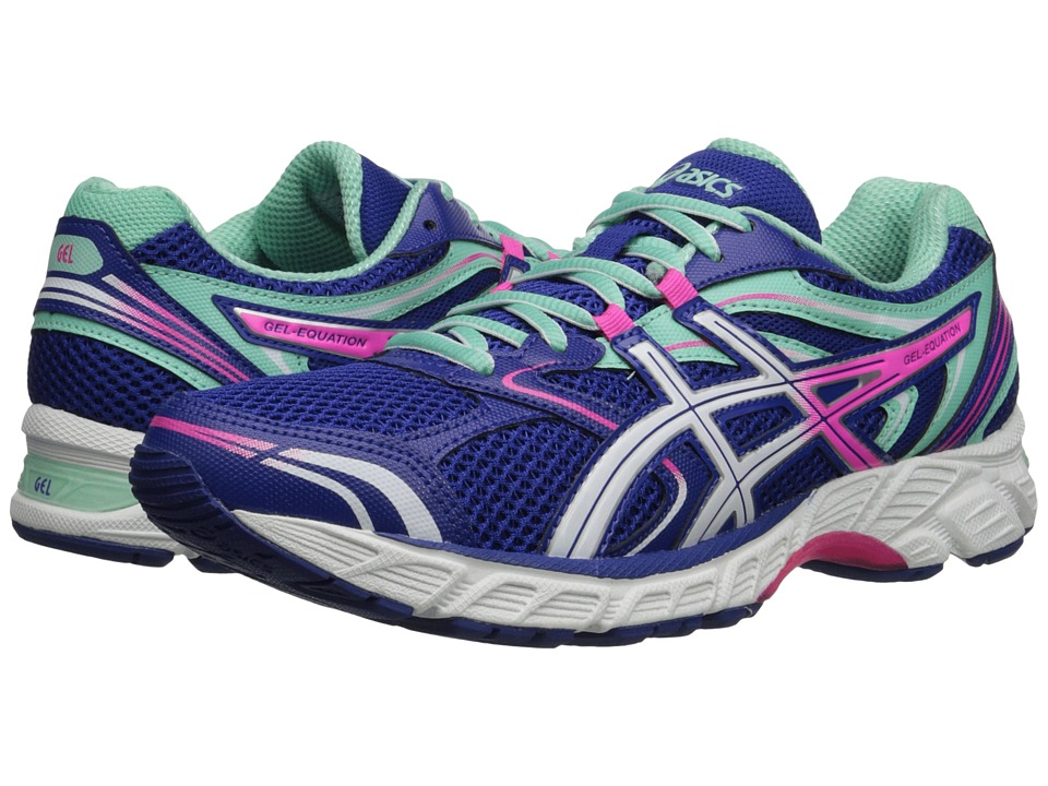 Asics Gel-Equation(r) 8 (Dazzling Blue/White/Hot Pink) Wo...