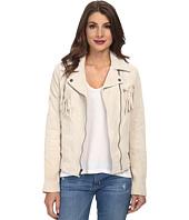 Jessica Simpson - Fringe Suede Moto Jacket