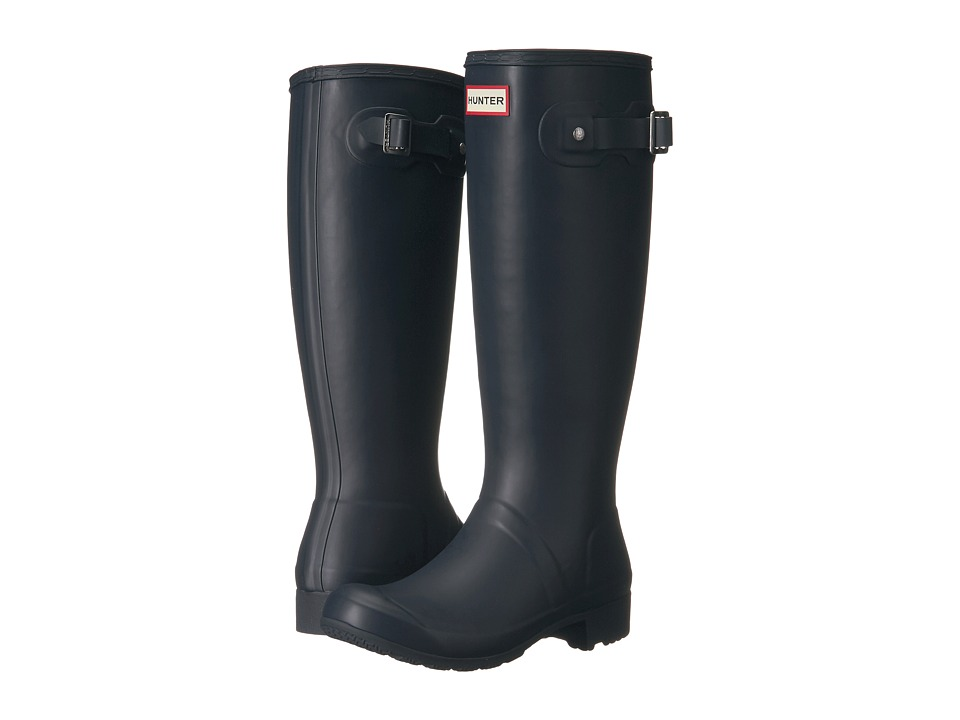 Hunter Original Tour Packable Rain Boot (Navy Matte) Women