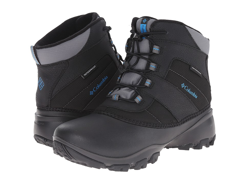 Columbia Kids - Rope Tow III Waterproof Boot (Toddler/Little Kid/Big Kid) (Black/Dark Compass) Boys Shoes