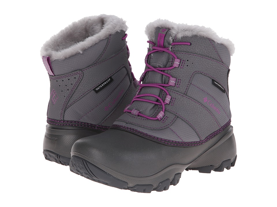 Columbia Kids - Rope Tow III Waterproof Boot (Toddler/Little Kid/Big Kid) (Charcoal/Razzle) Girls Shoes