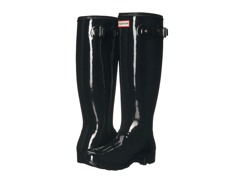 Hunter Original Tour Gloss Packable Rain Boot (Black) Women