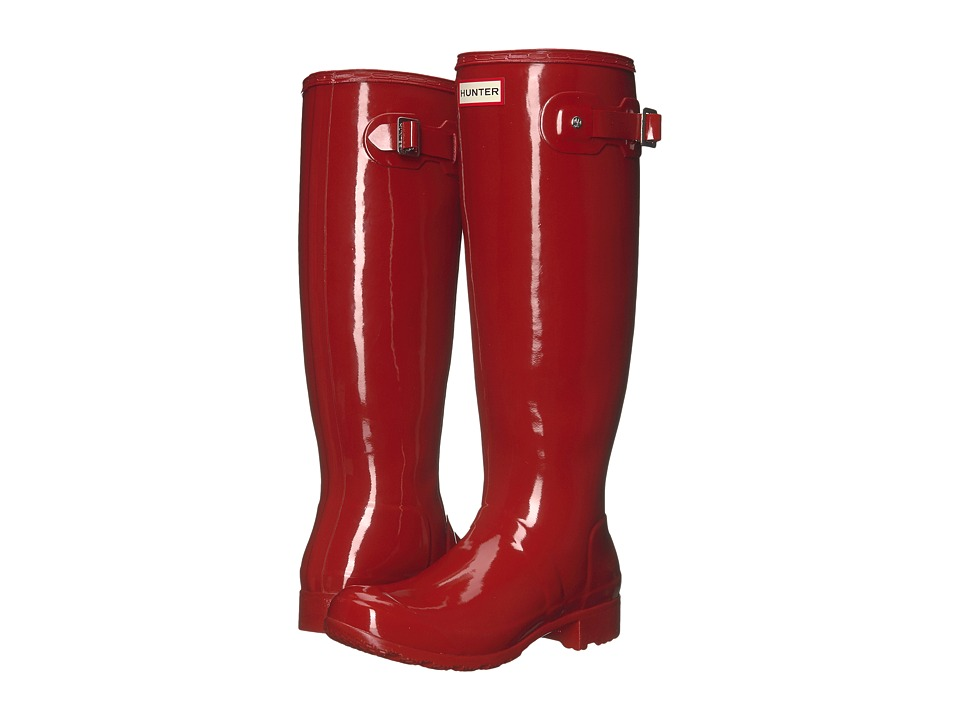 Hunter Original Tour Gloss Packable Rain Boot (Military Red) Women