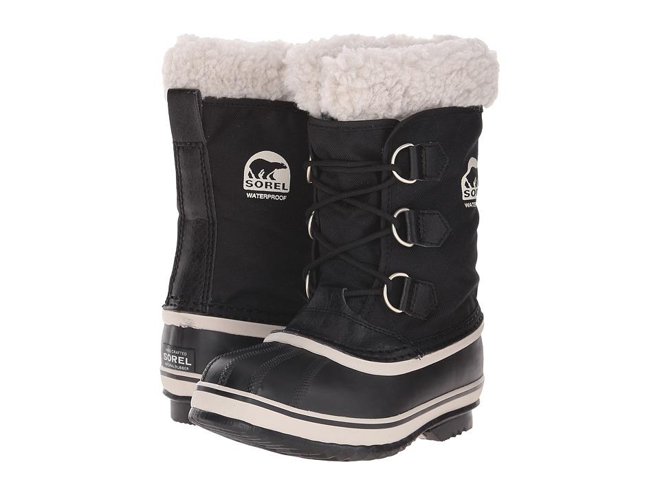 SOREL Kids Yoot Pac Nylon Little Kid/Big Kid Black Kids Shoes