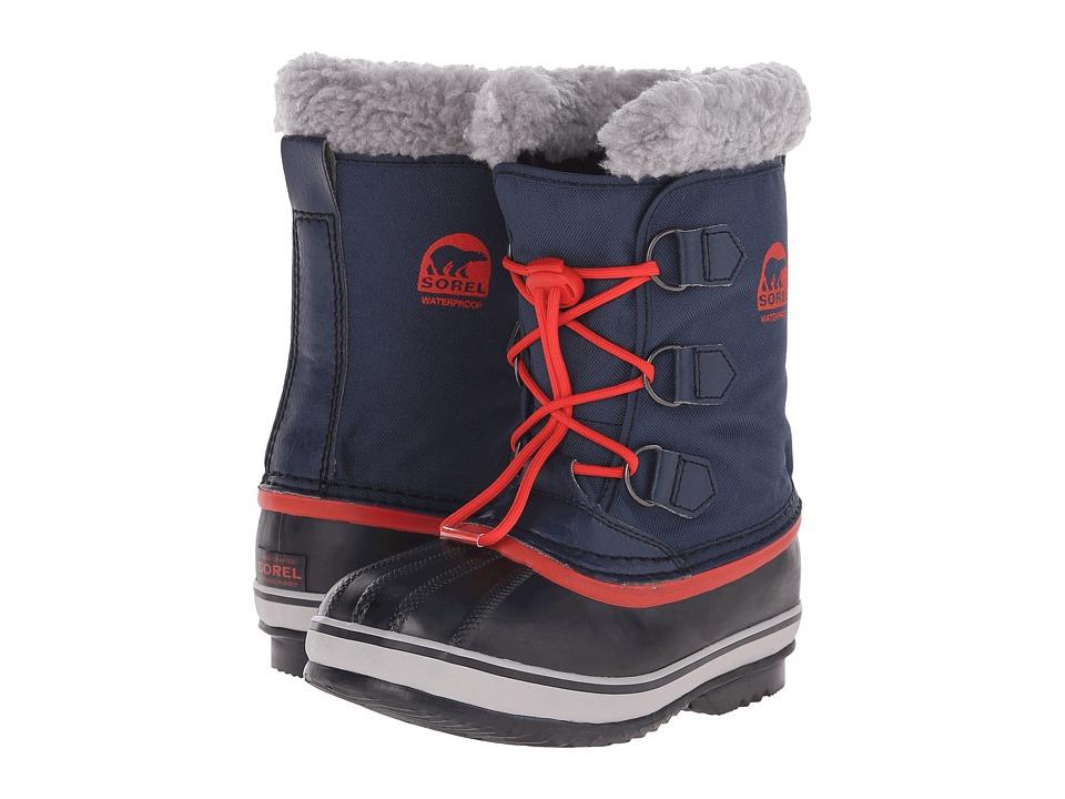 SOREL Kids Yoot Pac Nylon Little Kid/Big Kid Collegiate Navy/Sail Red Boys Shoes