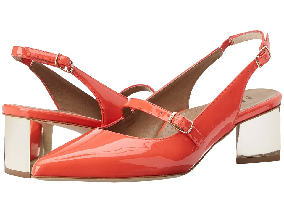 Anyi Lu Gigi Coral Patent Womens 1 2 inch heel Shoes