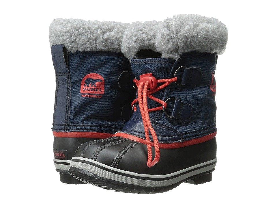 SOREL Kids - Yoot Pac Nylon (Toddler/Little Kid) (Collegiate Navy/Sail Red) Boys Shoes