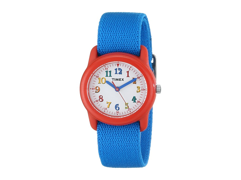 Timex Analog Elastic Fabric Strap Watch Youth Blue/Red/White Watches