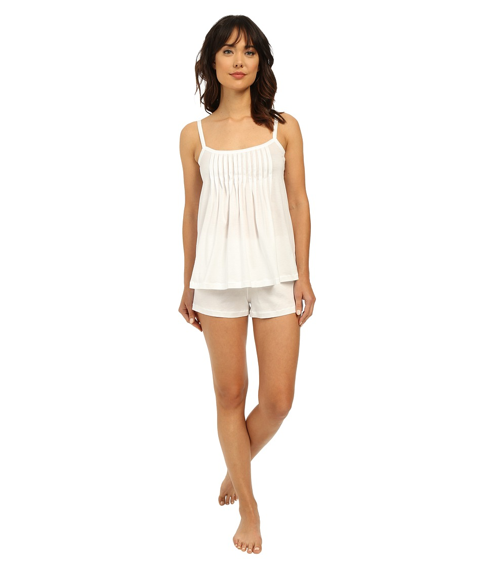 Hanro Juliet-Basic Short Pajama (White) Women's Pajama Sets