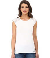 Calvin Klein - Short Sleeve Top w/ Shawdow Stripe