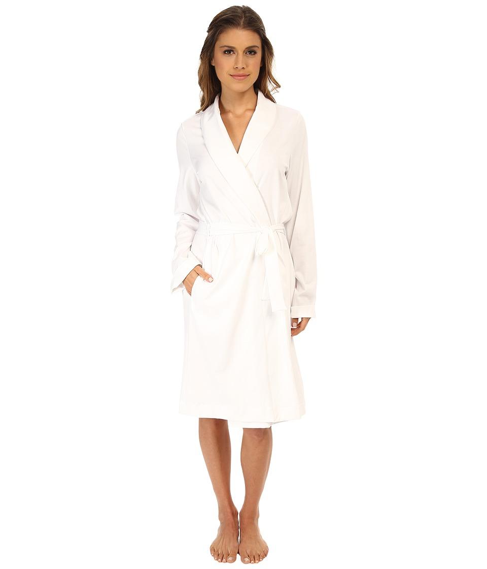 Hanro Robe Selection Basic Robe (White) Women's Robe