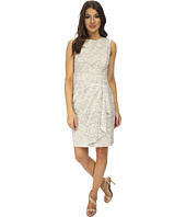 Calvin Klein - Lace Sheath Dress w/ Draped Waist