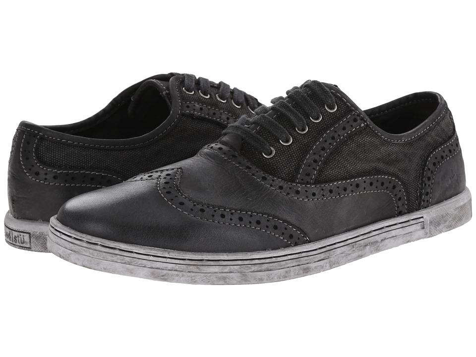 Bed Stu Bauer Black Garment Dye Canvas Mens Lace up casual Shoes