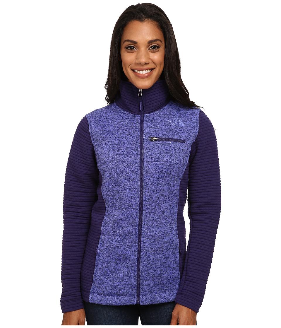 The North Face Indi Insulated Full Zip Jacket (Garnet Purple Heather/Garnet Purple (Prior Season)) Women