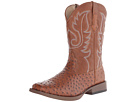 Roper Ostrich Print Square Toe Cowboy Boot (Light Beige)