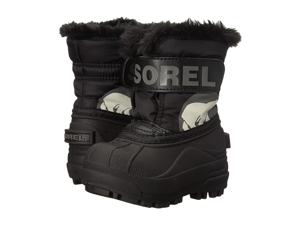 SOREL Kids Snow Commandertm (Toddler) (Black/Charcoal) Kids Shoes