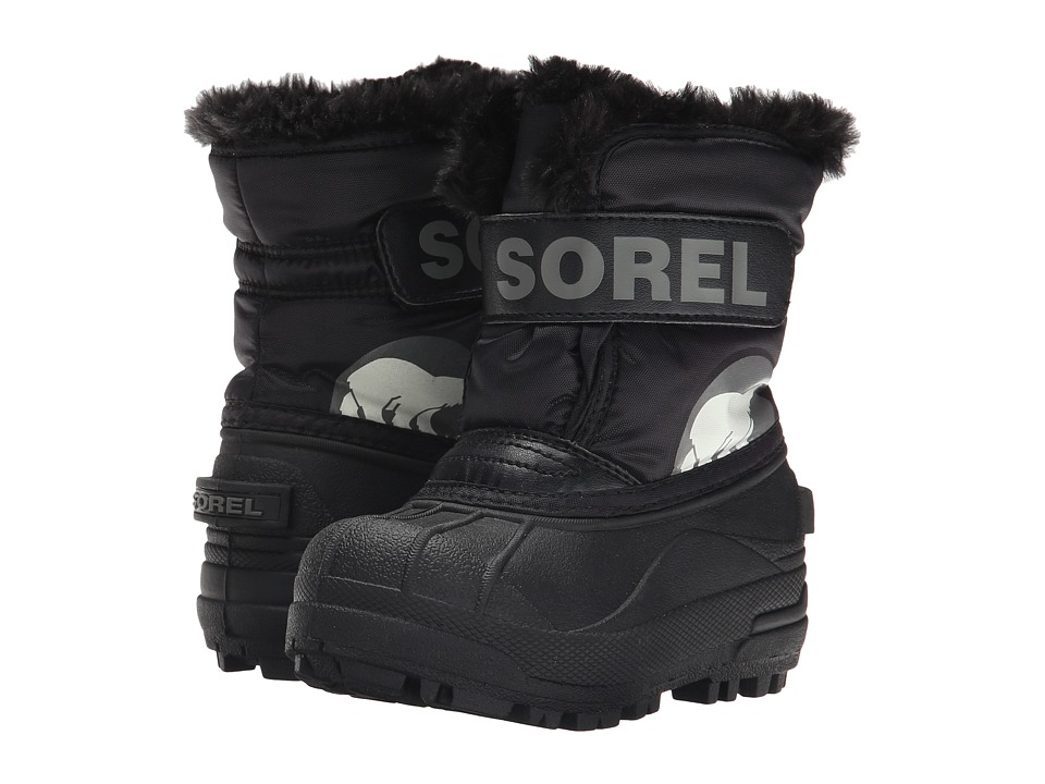 SOREL Kids Snow Commandertm (Toddler/Little Kid) (Black/Charcoal) Kids Shoes
