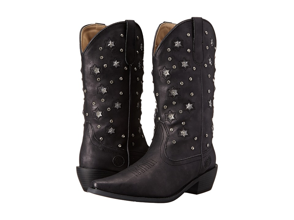 Roper Starlights (Black) Cowboy Boots